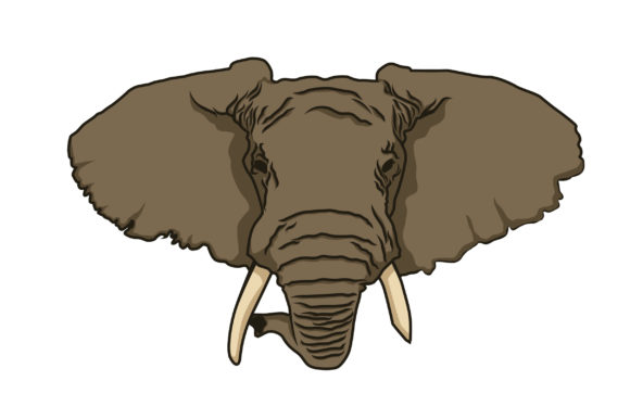 Download Free Elephant Head Vector Graphic By Pointzero Graphic Creative Fabrica for Cricut Explore, Silhouette and other cutting machines.