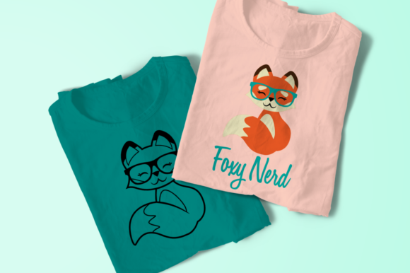 Foxy Nerd Graphic Crafts By RisaRocksIt - Image 1