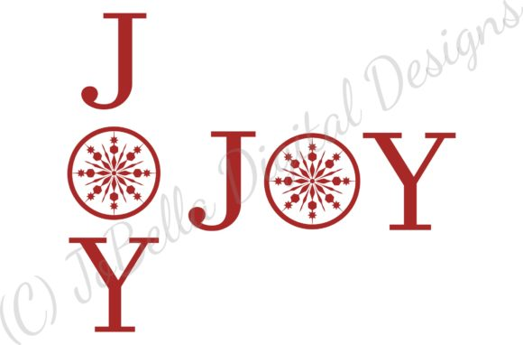 Download Free Joy Christmas Graphic By Jobella Digital Designs Creative Fabrica for Cricut Explore, Silhouette and other cutting machines.