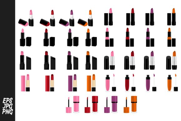 Print on Demand: Lipstick Vector Collection Bundle Graphic Crafts By Arief Sapta Adjie