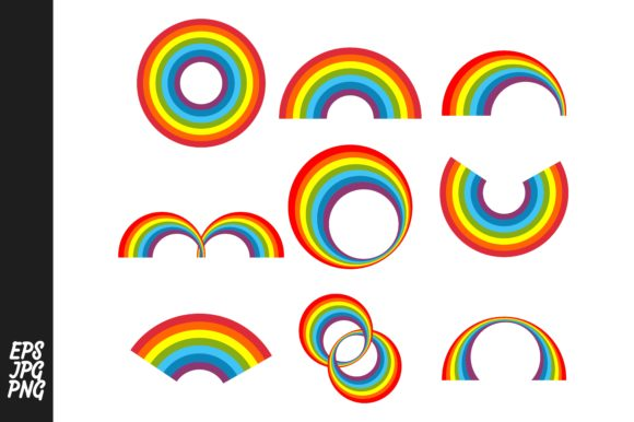 Rainbow Vector Collection Bundle Graphic By Arsa Adjie