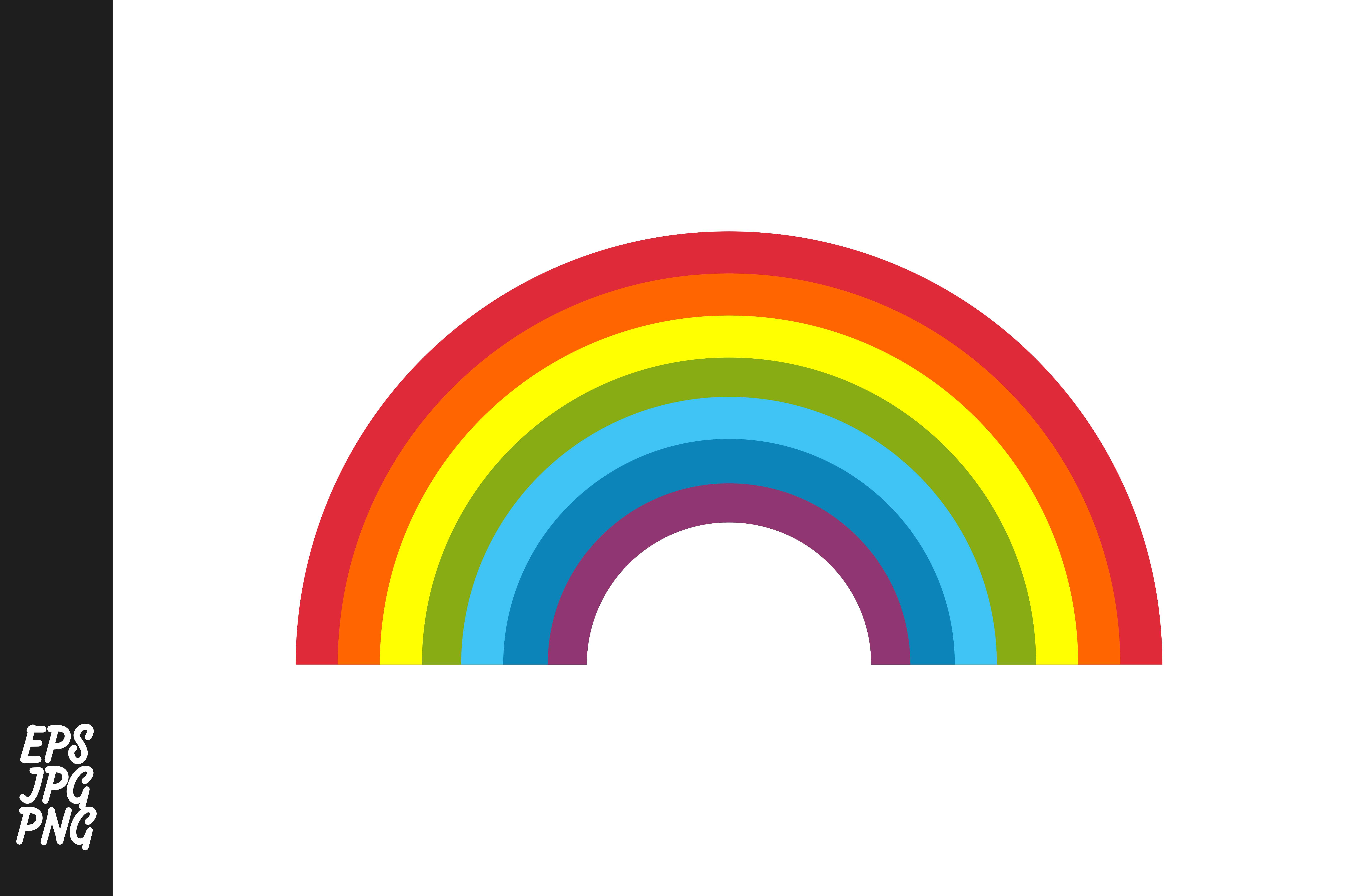 Download Free Rainbow Vector Graphic By Arsa Adjie Creative Fabrica for Cricut Explore, Silhouette and other cutting machines.