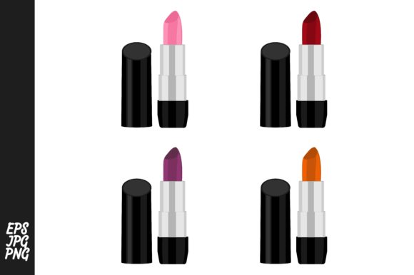 Print on Demand: Lipstick Vector Collection Bundle Graphic Crafts By Arief Sapta Adjie - Image 1
