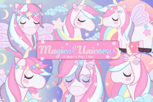 Magical Unicorn Clipart Set Graphic By JM_Graphics