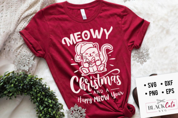 Download Free Meowy Christmas Svg Graphic By Blackcatsmedia Creative Fabrica for Cricut Explore, Silhouette and other cutting machines.