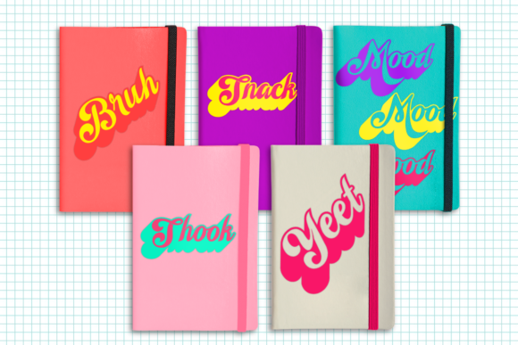 Millennial Slang Words Graphic Crafts By RisaRocksIt