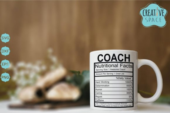 Coach Nutritional Facts Gráfico Crafts Por creativespace