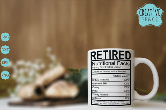 Retired Nutritional Facts Graphic Crafts By creativespace - Image 1