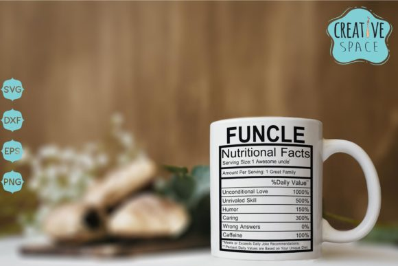 Uncle Nutritional Facts Graphic Crafts By creativespace - Image 2