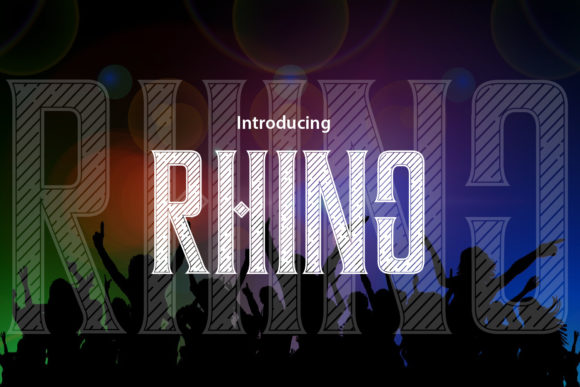 Rhino Decorative Font By da_only_aan