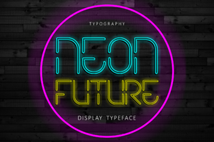 Neon Future Display Font By arukidz.fl