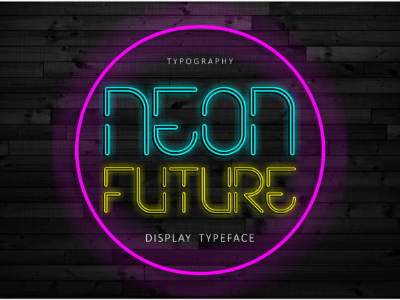 Print on Demand: Neon Future Display Font By arukidz.fl