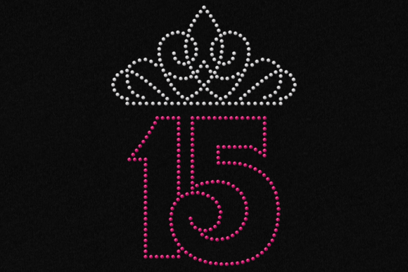 Download Free 15 Quinceanera Tiara Rhinestone Graphic By Designedbygeeks for Cricut Explore, Silhouette and other cutting machines.