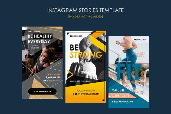 Print on Demand: Social Media Story Template Graphic Graphic Templates By pixiagraphics