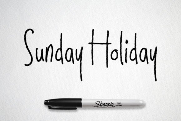 Sunday Holiday Script & Handwritten Font By semuthitam