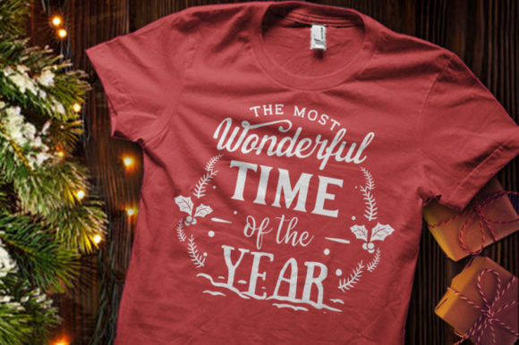 The Most Wonderful Time of the Year SVG Graphic Crafts By BlackCatsMedia