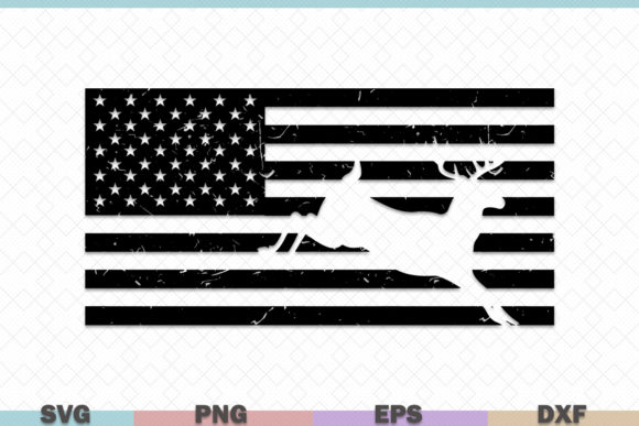 Usa Flag With Deer Hunting Graphic By Graphicza Creative Fabrica