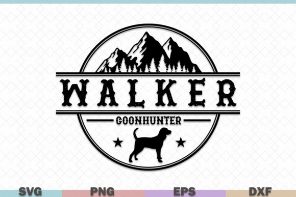 Download Free Walker Coonhunter Hunting Graphic By Graphicza Creative Fabrica for Cricut Explore, Silhouette and other cutting machines.