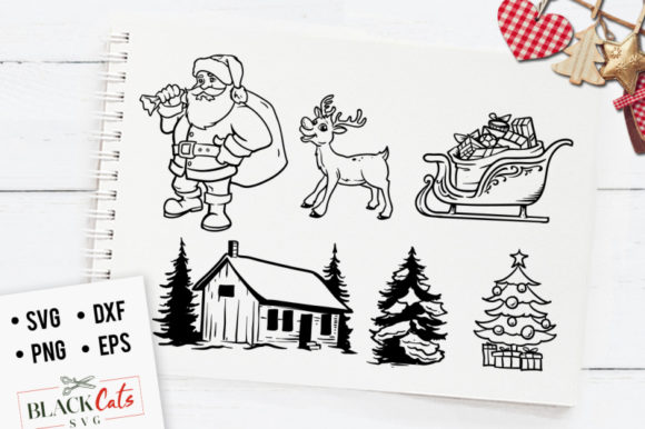 Winter Clipart Svg Graphic Crafts By BlackCatsMedia - Image 1
