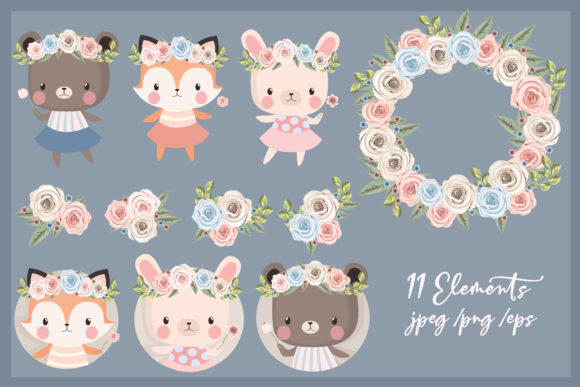 Print on Demand: Woodland Friends Clipart Set Graphic Illustrations By JM_Graphics - Image 5