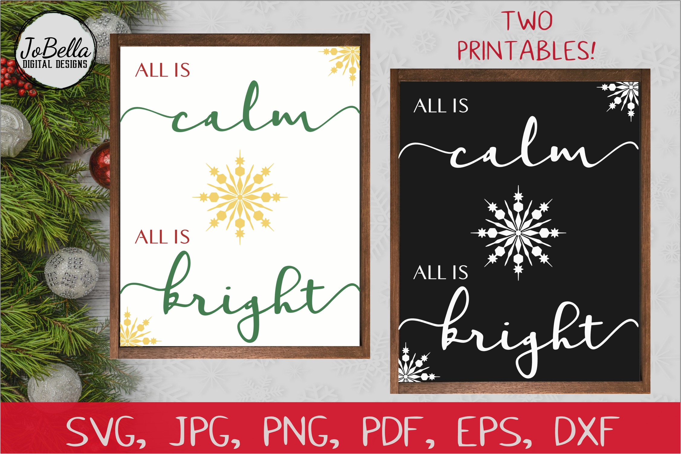 Download Free Silent Night Christmas Graphic By Jobella Digital Designs for Cricut Explore, Silhouette and other cutting machines.