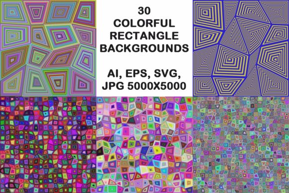 30 Colorful Rectangle Backgrounds Graphic Backgrounds By davidzydd