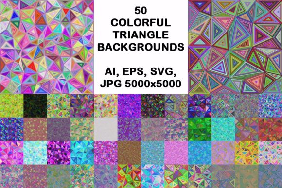 50 Colorful Triangle Backgrounds Graphic Backgrounds By davidzydd