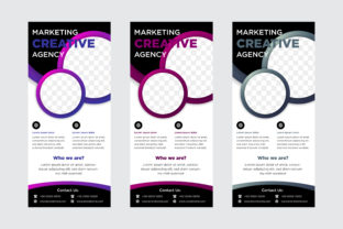Download Free Blue Purple Red Vertical Banner Circle Graphic By Noory Shopper for Cricut Explore, Silhouette and other cutting machines.