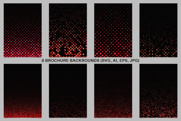 8 Red Brochure Backrounds Graphic Print Templates By davidzydd