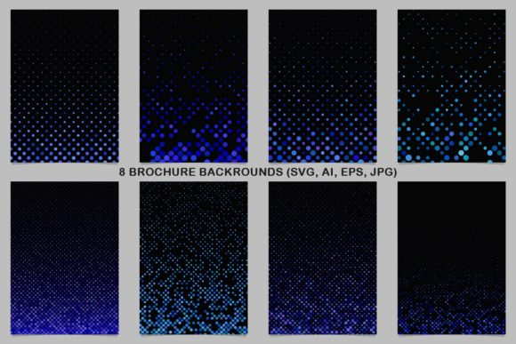 8 Blue Brochure Backrounds Graphic Print Templates By davidzydd