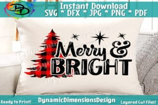 Christmas SVG, Merry & Bright Gráfico Por dynamicdimensions