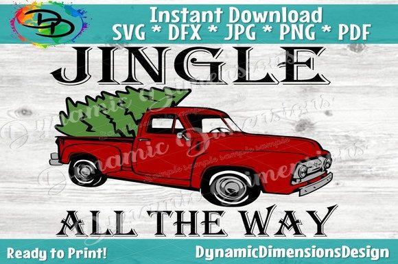 Jingle All the Way Svg, Christmas Svg, Graphic By dynamicdimensions