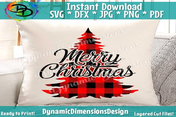 Download Free Merry Christmas Svg Christmas Tree Svg Graphic By for Cricut Explore, Silhouette and other cutting machines.