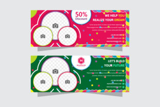 Circle Banner Colorful Dot Horizontal Graphic By noory.shopper