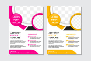 Circle Flyer Pink Yellow Grey Graphic By noory.shopper