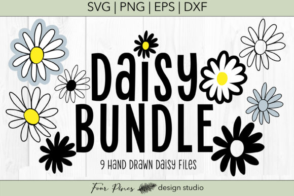 Download Free Daisy Handdrawn Bundle Graphic By Lifeinlettersco Creative Fabrica for Cricut Explore, Silhouette and other cutting machines.