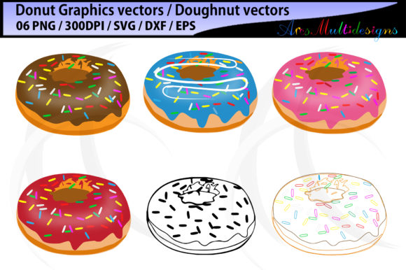 Print on Demand: Donut Doughnut Graphic Illustrations By Arcs Multidesigns - Image 1
