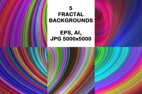 5 Colorful Backgrounds Graphic Backgrounds By davidzydd
