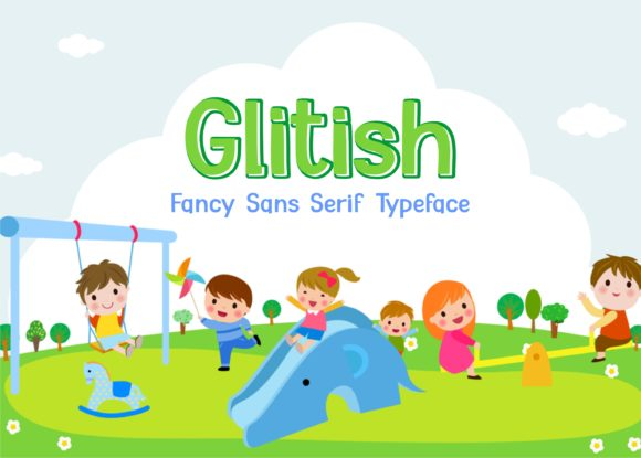 Print on Demand: Glitish Display Font By Sons Of Baidlowi - Image 1
