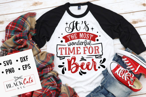 It's the Most Wonderful Time for Beer SV Gráfico Crafts Por BlackCatsMedia