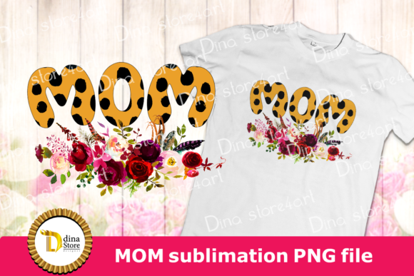 Download Free Mom Word Sublimation Graphic By Dina Store4art Creative Fabrica for Cricut Explore, Silhouette and other cutting machines.