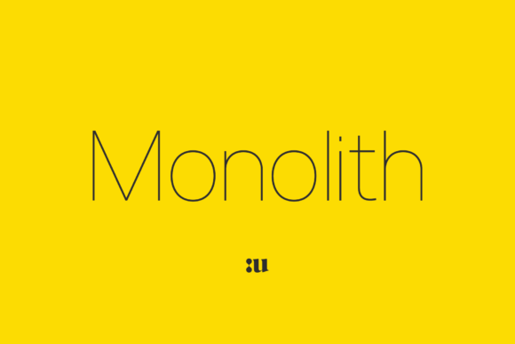 Monolith Sans Serif Font By unio.creativesolutions