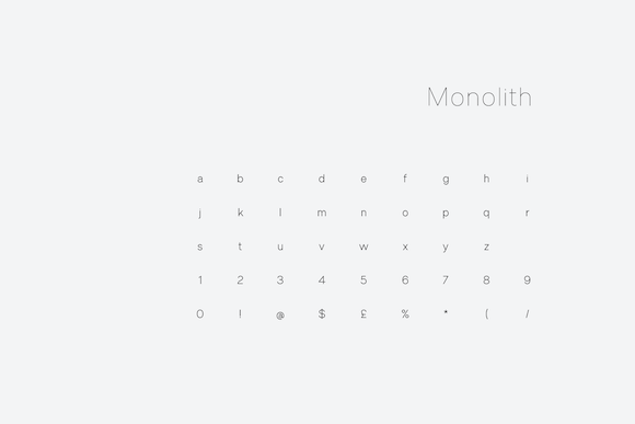 Print on Demand: Monolith Sans Serif Font By unio.creativesolutions - Image 6