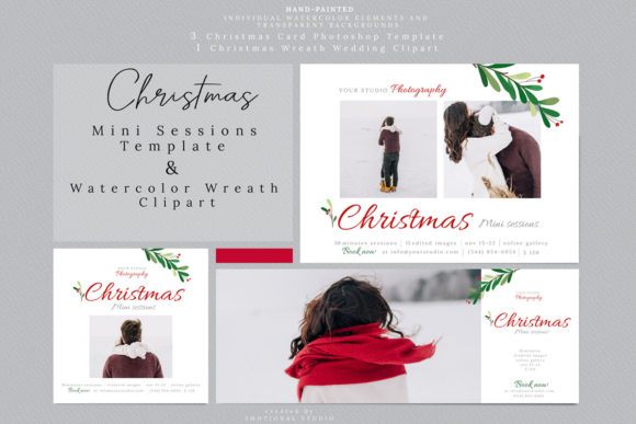 Christmas Mini Sessions Template Graphic By 3Motional
