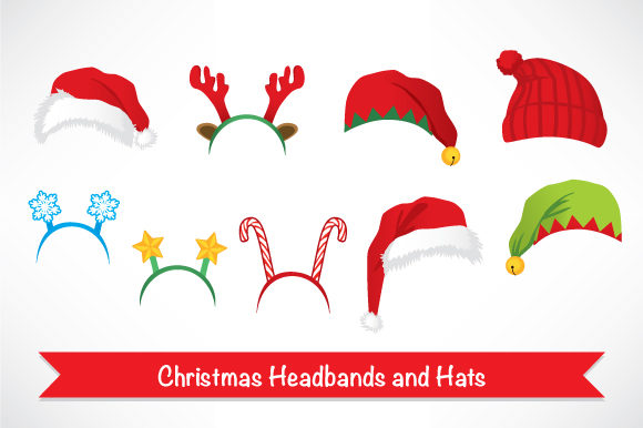 Christmas Headbands and Hats Graphic By Kakigori Studio