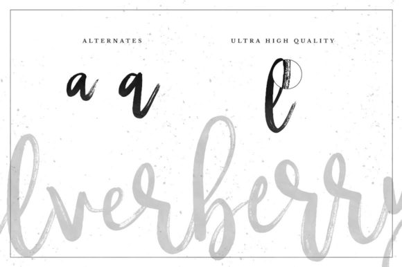 Print on Demand: Silverberry Script & Handwritten Font By wornoutmedia - Image 2