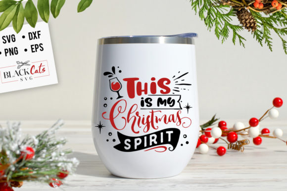 Download Free This Is My Christmas Spirit Svg Graphic By Blackcatsmedia for Cricut Explore, Silhouette and other cutting machines.