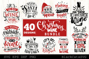 Christmas Wine Bundle SVG 40 Designs Graphic By sssilent_rage