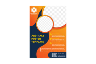 Yellow Blue Poster Circle Graphic By noory.shopper