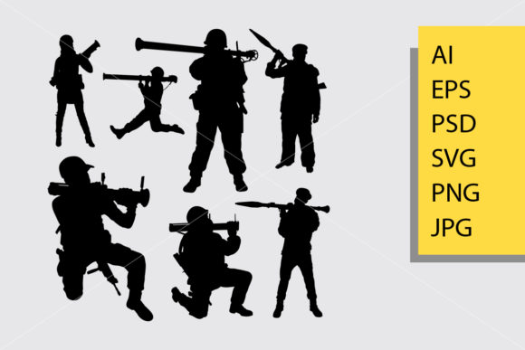 Bazooka Soldier Silhouette Graphic By Cove703